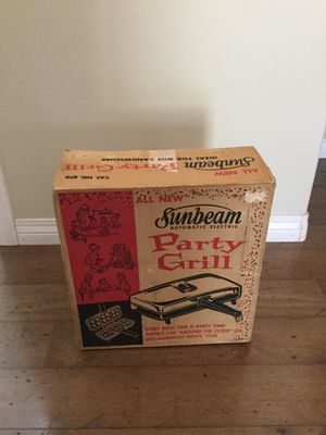 Vintage Sunbeam Party Grill 870 NEW Unused for Sale in Escondido, CA