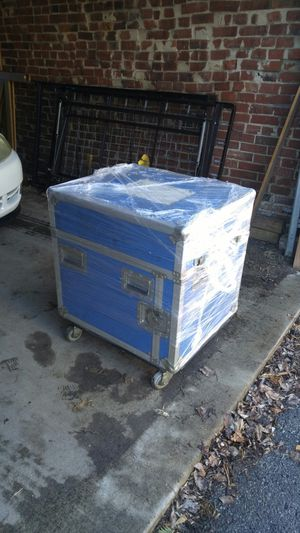Music equipment Travel Road Case w/ Wheeled Dolly for Sale in St. Louis, MO