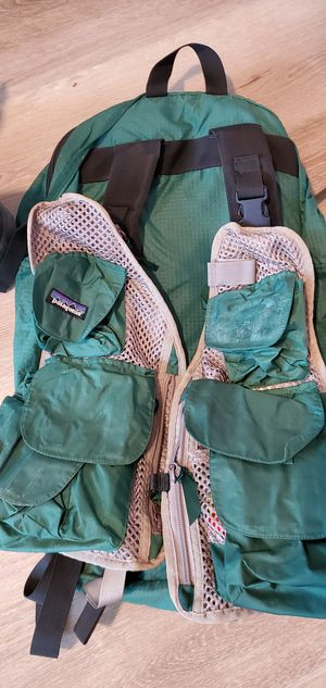 Patagonia Fly fishing pack/Simms wading boots for Sale in Everett, WA