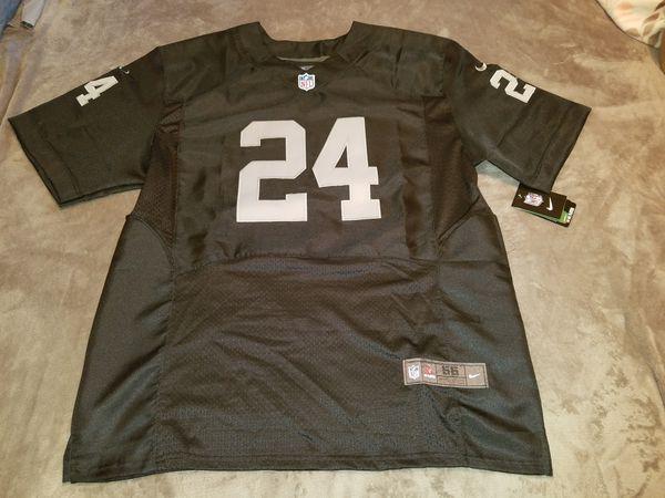 Oakland Raiders Marshawn Lynch black elite jersey size 56