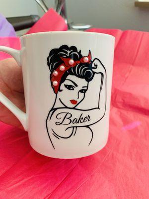 Rosie The Riveter Baker Vinyl Decal Mug for Sale in Moreno Valley, CA
