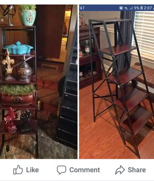 Pick up in Buda Texas Pottery Barn ladder shelf FOR SALE ONLY $75 firm no less.. 4ft.T X 28 in. Deep x 15 in W for Sale in Lockhart, TX