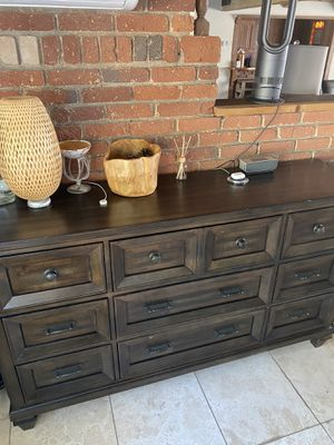 solid wood buffet table dresser console for Sale in Pomona, CA