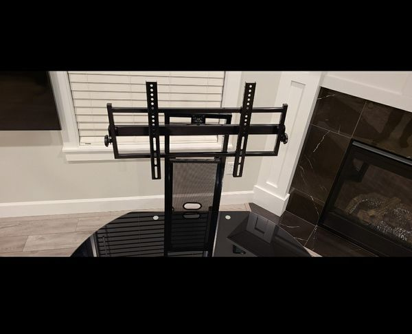 Black TV Stand with Attachment