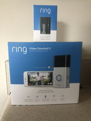 Ring Video Doorbell 2 w/ extra battery for Sale in Henrico, VA