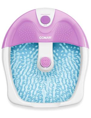 Conair Foot Spa/Pedicure Spa with Soothing Vibration Massage, Lavender/White for Sale in Reston, VA