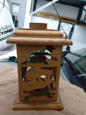 Wooden decorative hanging candle holder for Sale in Palm City, FL