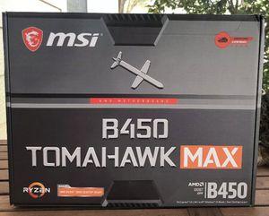 MSI B450 TOMAHAWK MAX USBC Gen2 AMD Ryzen 3000 Motherboard for Sale in Lakewood Ranch, FL