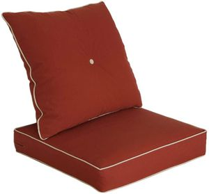 Bossima Cushions for Patio Furniture, Outdoor Water Repellent Fabric, Deep Seat Pillow and High Back Design, Brick Red for Sale in Tinley Park, IL