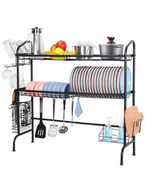Over the Sink Dish Drying Rack, Weluvfit 2 Tier Large Stainless Steel for Sale in Los Angeles, CA