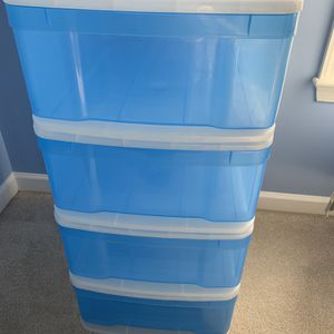 Container Store Large Tint Stackable Storage Drawer for Sale in Ashburn, VA