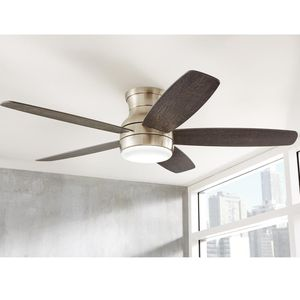 Ashby Park 52 in. White Color Changing Integrated LED Brushed Nickel Ceiling Fan with Remote Control. New! for Sale in Fort Lauderdale, FL