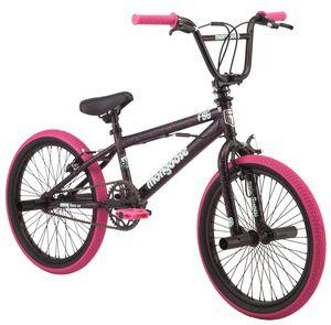 Mongoose FSG BMX Bike, 20-inch wheels, single speed, black /pink for Sale in Columbia, SC