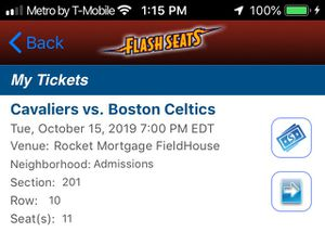 Cavs Preseason Game for Sale in Cleveland, OH