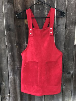 Red Overall Mini Dress for Sale in Alta Loma, CA