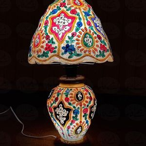 Hand Painted Camel Skin Table Lamp for Sale in Annandale, VA