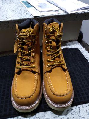 Leather Work Boots-Bota de Trabajo de Piel for Sale in Orange, CA