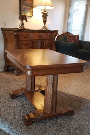 Oak wood vintage desk table for Sale in San Diego, CA