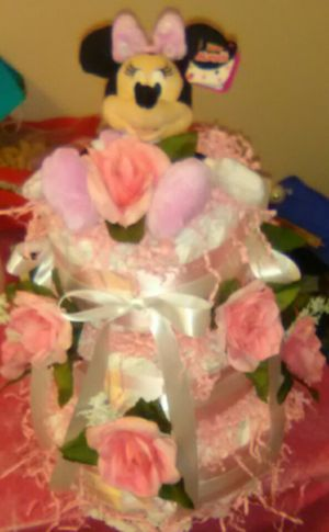 Diaper cakes for girls for Sale in Bristol, CT