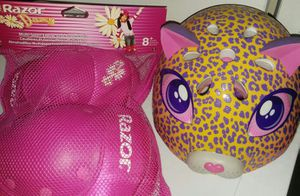NEW Girls Bike Helmet and Pad Set for Sale in Glen Burnie, MD