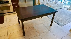 Dark Wood Mid Century Modern Expandable Dining Table for Sale in Miami, FL