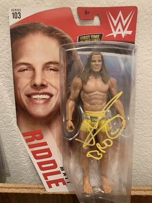 WWE SIGNED Matt Riddle Basic Action Figure for Sale in San Jose, CA