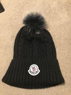Moncler Black Fur Skull Cap for Sale in Atlanta, GA