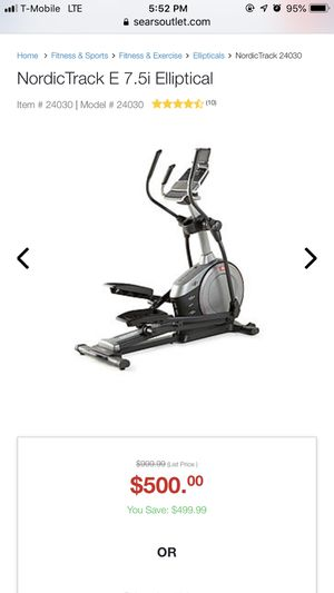 Nordic track elliptical E 7.5 for Sale in Palm Springs, FL
