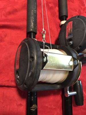 Shimano tld 50 2 speed reels and rods for Sale in Boca Raton, FL