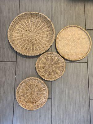 Boho rattan basket decor for Sale in Whittier, CA