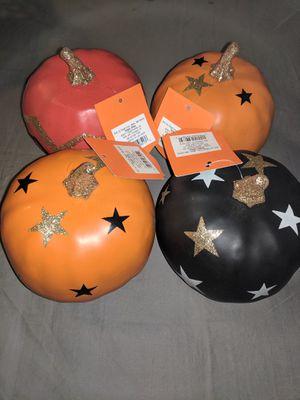 Halloween orange pumpkin decorations. Set of 4. for Sale in Marietta, GA