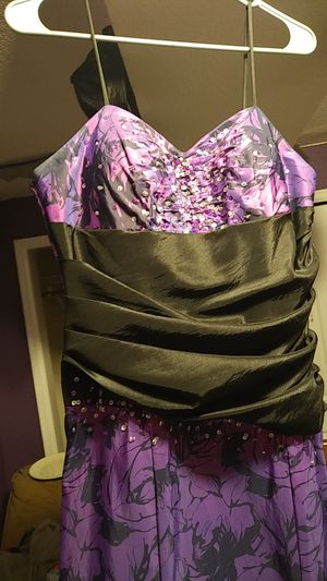 Long Prom Dress Purple/Floral Design for Sale in Denver, CO