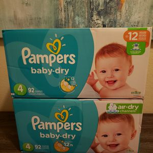 2 Boxes Of Pampers Diapers Size 4 for Sale in Chula Vista, CA