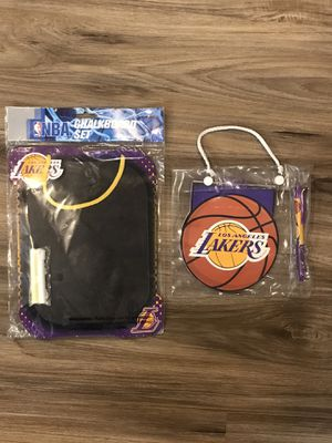 NBA Lakers mini chalkboard & notepad for Sale in Ontario, CA