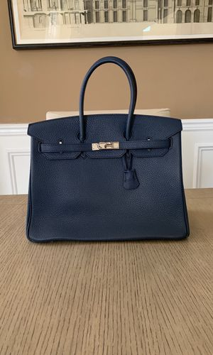 Large Imitation Birkin Handbag - Navy for Sale in Miramar, FL