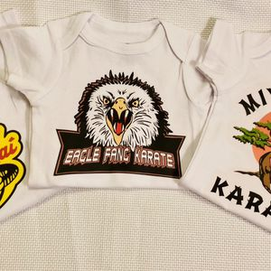 Cobra Kai . Eagle Fang And Miyagi Do onesies And Bibs for Sale in Arvada, CO