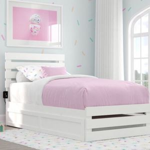 Wayfair Brand, Brand New Boxed White Twin Bed With Trundle Twin. for Sale in Brooklyn, NY