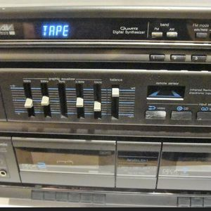 Panasonic SA-H30 Quartz Synthesizer AM/FM Cassette Stereo Receiver System and 2 Philips Speakers / WORKS WELL for Sale in Rolling Meadows, IL