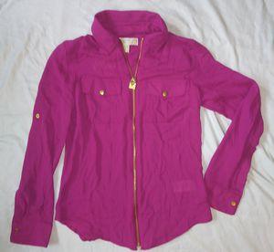 Michael Kors zip front shirt new for Sale in Marysville, WA