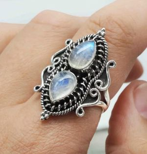 Vintage Water Drop Moonstone S925 Silver Ring for Sale in Wichita, KS