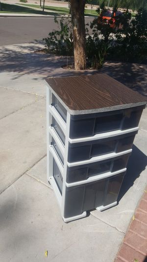 Plastic storage 4 drawers with wheels for Sale in Glendale, AZ