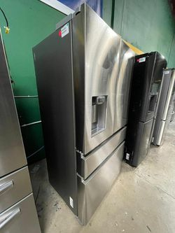 FREE DELIVERY! Samsung MUST GO! Refrigerator Fridge Stainless #1708 for Sale in San Antonio,  TX