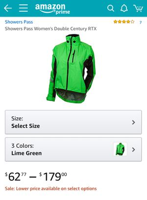 Women's Bicycle rain jacket size: Small for Sale in Portland, OR