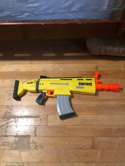 Fortnite nerf gun scar with batteries for Sale in Milford,  MA