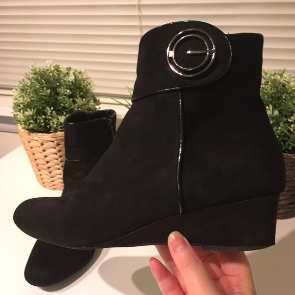 Women Winter Suede Ankle Boots
