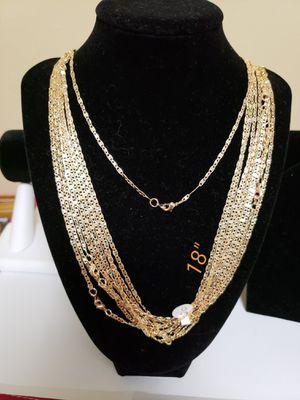 """WOMEN'S CHAIN 18"""" BRAZILIAN 18K GOLD LAYERED FINE JEWELRY for Sale in Roanoke, VA"""