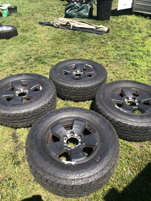 17 inch rims with tires for Sale in Chesapeake, VA