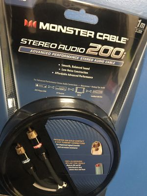 Monster cable stereo audio 200¡ for Sale in San Jose, CA