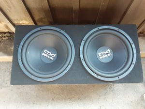 Dxi polk audio 12 inch subwoofers with 1100watt amp for Sale in Sacramento, CA