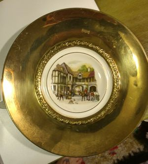 Antique bone china and brass collector's plates for Sale in Austin, TX
